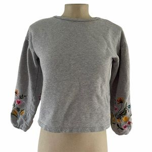 UNITED COLORS OF BENETTON Flower Gray Pullover XL